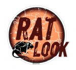 Distressed Aged RAT LOOK Circular Design For Rat Look VW Vinyl Car sticker decal 100x90mm